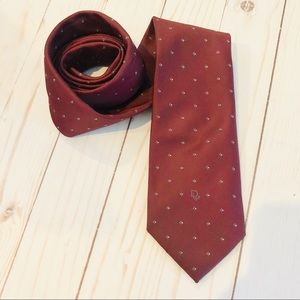 { Christian Dior } Red Neck Tie